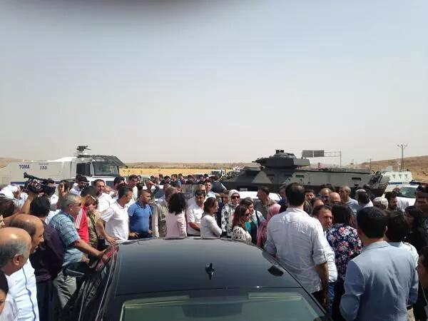 Delegación del HDP tras ser interceptada